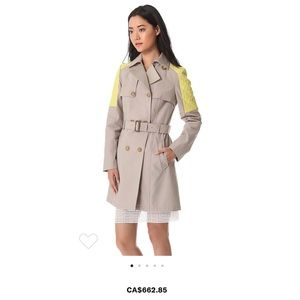 Mackage Lilith Trench Leather Neon Shoulder